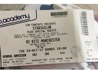 1 Starsailor ticket for Manchester