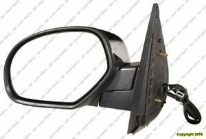 Door Mirror Power Driver Side Heated Withoutffroad Without Courtesy Without Signal Chrome Cap GMC Yukon 2007-2011