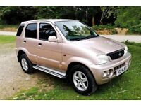 Daihatsu Terios 4X4 excellent condition, rare colour and low mileage, 4 wheel drive, manual