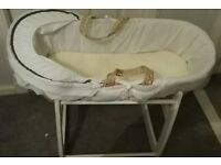 1 unused moses basket stand second hand.