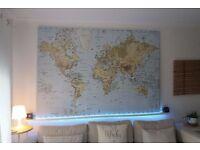 IKEA PREMIAR World Map Atlas 200cmX140cm RARE
