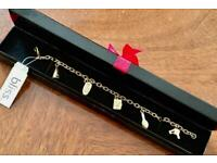 BRAND NEW GOLD PLATED CHARM BRACELET GIFT BOXED