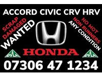 WANTED HONDA CAR ANY CONDITION SCRAP DAMAGED FAST CASH CIVIC CRV ACCORD