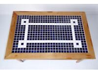 Mosaic tile coffee table