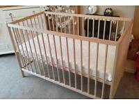 Unused John Lewis cot with unused mamas and papas mattress £40
