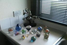 Collection of beautiful paper weights
