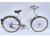 vintage ladies peugeot meteor town bicycle