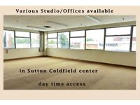 Studio for Artist, Offices, are availbe in Centre Sutton Coldfield