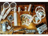 Nintendo Wii bundle- Mario Kart, Wii Sport (console, games, controllers etc)