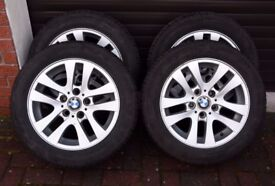 4 BMW alloy wheels with winter tyres