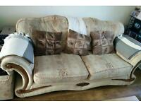Patterned 3 seater couch just over 2 metres good condition