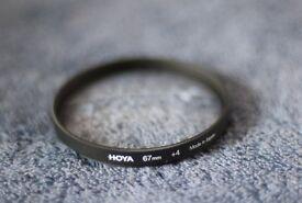 Hoya 4+ magnifying filter + UV Filter