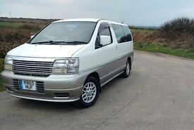 NISSAN ELGRAND 3.2 TD 8 SEATER LUXURY MPV / VAN. LOW MILEAGE AND VERY CLEAN GENUINE VEHICLE