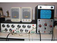 Electronic Oscilloscope + Audio Signal Generator + Powered Speakers