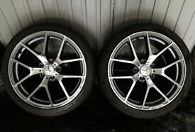 "18"" INCH BRAND NEW ALLOY WHEELS & TYRES MERCEDES C E S CLASS W205 W212 C63 S63 E63 AMG STYLE ALLOYS"
