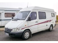 Mercedes Sprinter High Top Camper, LHD, 2001, 3/4 Berth, 4 Travelling Seats - TO CLEAR