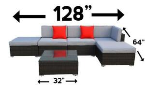 Patio Furniture piece sectional set lawn garden brand new