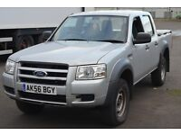 FORD RANGER D/C 4X4 pick up 2499cc 2006 SILVER only 124,308 Mileage!!!!