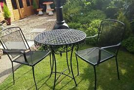 castarti garden bistro table and chairs