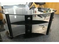 Black glass TV unit #24961 £35