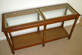 Glass-topped hall table - Bedford