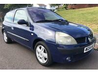 RENAULT CLIO, 2005 54 PLATE, 16V, PETROL, 88K, BLUE, LOW MILEAGE AND INSURANCE, 12 MONTHS MOT!