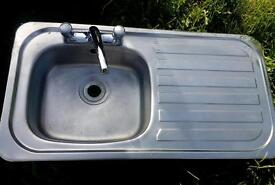Small stainless sink & drainer