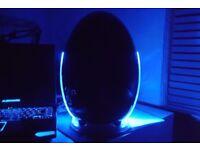 Black mini egg fridge