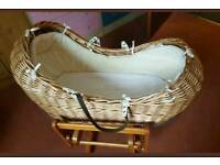 Mothercare snug Moses basket / cribb excellent condition