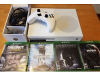 Xbox One S Bundle with games white