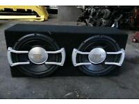 JBL twin Subwoofer Box - Black - VGC