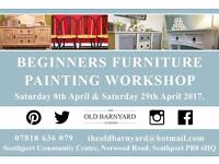 FURNITURE PAINTING WORKSHOPS FOR BEGINNERS