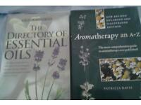 Two books Aromatherapy an a-z & the Directory of Essential oils