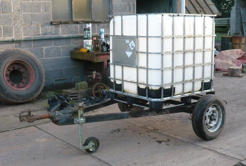 Water Tank Trailer Water Bowser Ibc Container Ideal For Horse