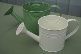 TWO MINIATURE INDOOR WATERING CANS
