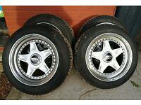 """3 peice split monza wheels from Japan 16"""" 8&9j 5x114.3"""