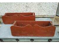 Pair Wooden Planters