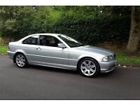 BMW 330 CI SE 2001, ONLY 71,943 MILES, TWO PREVIOUS OWNERS. STUNNING EXAMPLE IN TITANIUM SILVER.