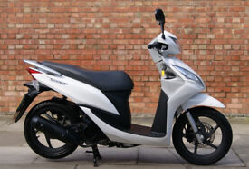 Honda Vision 110cc in white, Immaculate condition with 416 miles