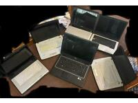 Joblot 6 laptops spares or repair no chargers