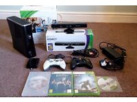 **Bargain Xbox 360 slim Gloss black Complete Bundle **