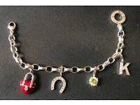 Thomas Sabo Silver Bracelet with 4 Silver Charms