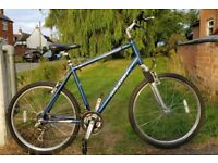 Raleigh Savannah XL Aluminium Front Suspension Mountain Bike. 21in frame, 27in wheels. For 6ft+.