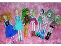 Monster High and Frozen dolls