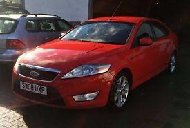 Immaculate 2008 Ford Mondeo 2.0 Tdci Zetec Flame Red 94k hist,mot Sept 17 both keys LOVELY CAR !!