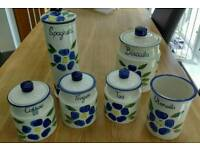 Kitchen canisters, sugar tea coffee