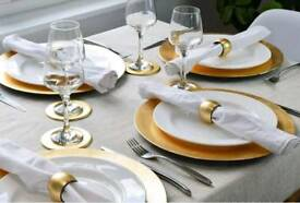 Gold charger plates for 50p each!