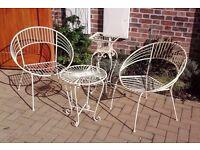 Set of Cream Garden Furniture