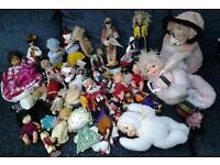 Job lot of mostly old dolls etc