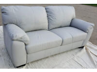 Brand New/Transport Damaged Milano 3 Seater Leather Sofa - Grey